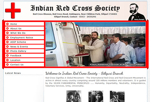 Website for red cross siliguri