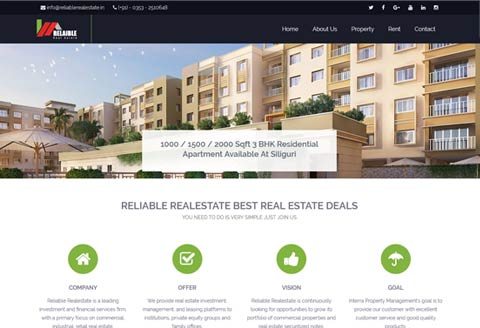 Real estate website for siliguri