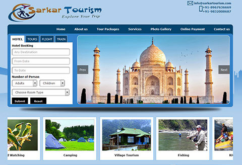 tour and travel website for sarkar tourism