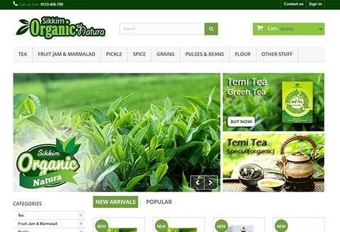Ecommerce website designing for Sikkim Organic Nature